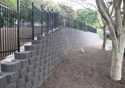 Roma Street Parklands Retaining Wall & Drainage